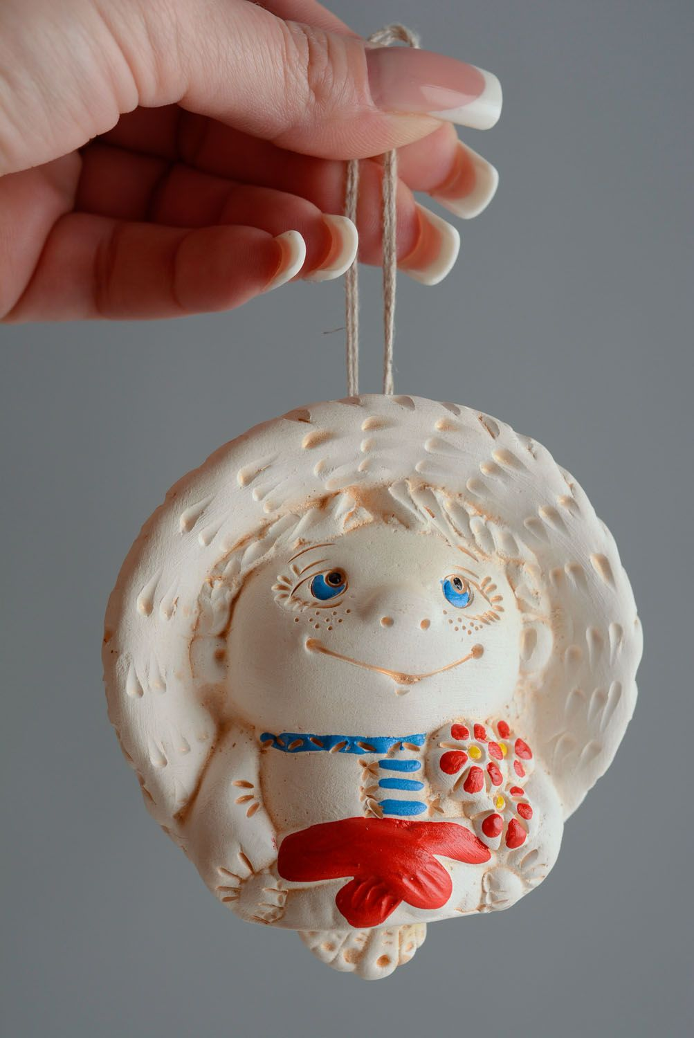 Painted ceramic bell photo 4