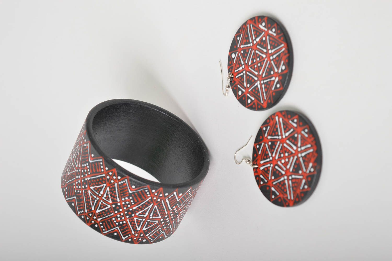 Handmade lovely earrings stylish cute jewelry unusual designer bracelet  photo 2