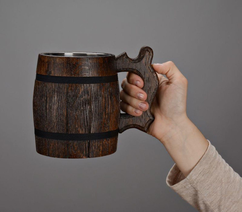Large beer mug with metal inside photo 5