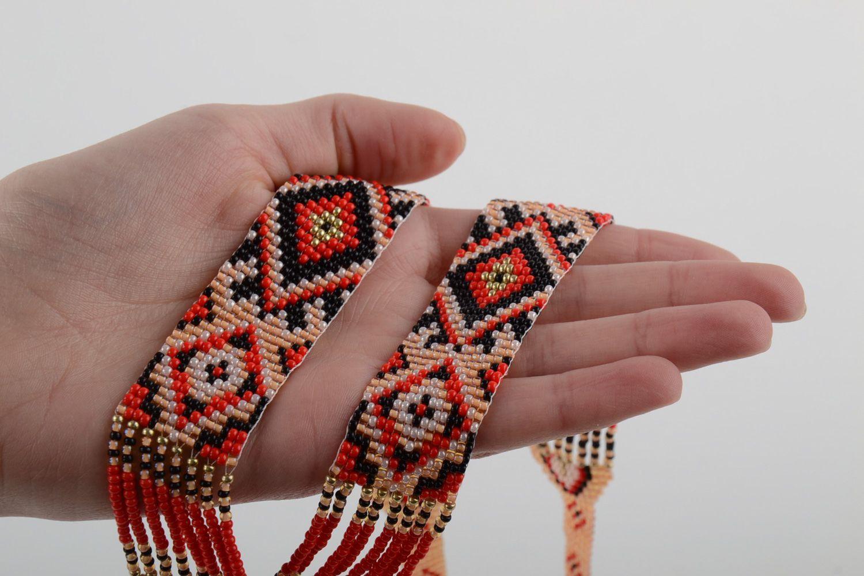 collier perle tisse