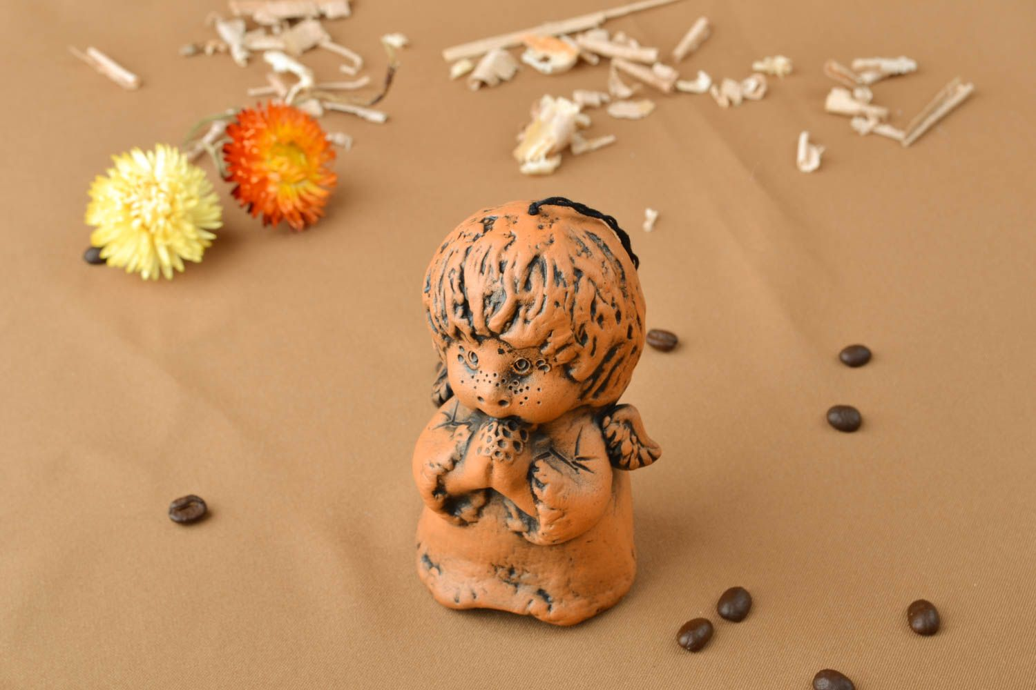 Handmade ceramic bell Boy photo 5