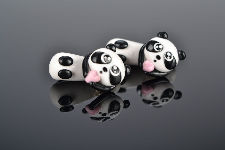 Plastic fake ear plugs Pandas photo 1