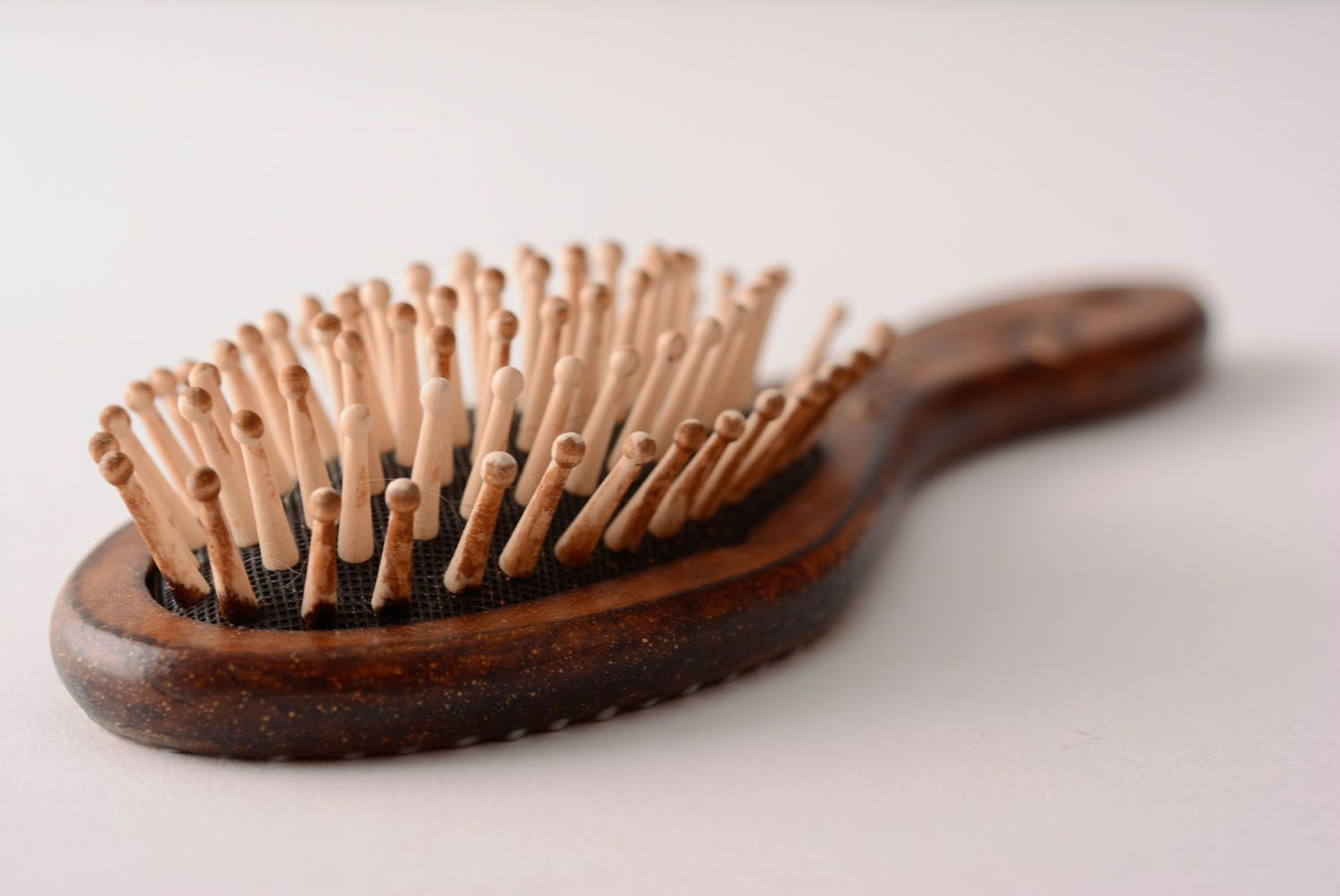 Handmade wooden hair brush stylish decoupage hair brush unusual brush for hair photo 4