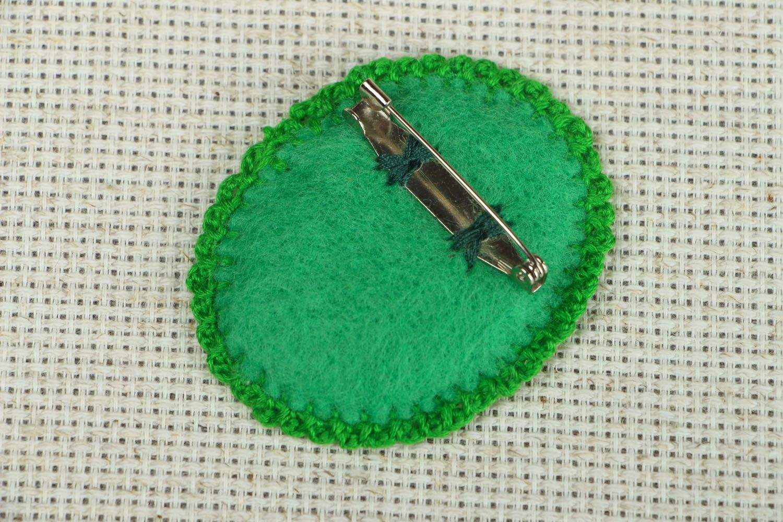 Beautiful fabric brooch photo 2