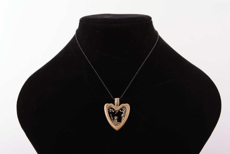 Bronze Anhänger Herz foto 5