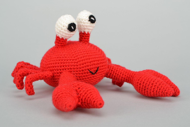 Handmade soft crochet toy Crab photo 5