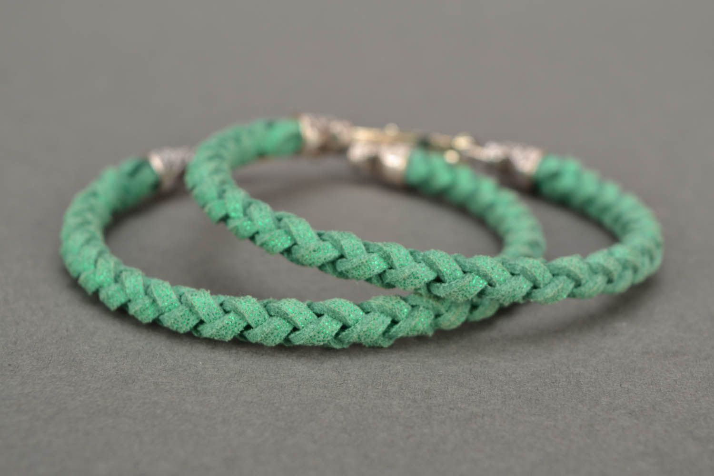 Green woven bracelet photo 5