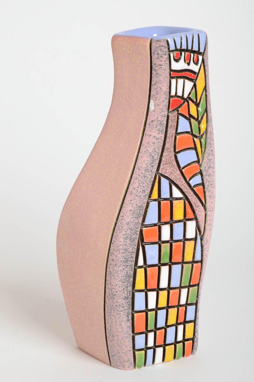 madeheart keramik vase handgeschaffen wohnzimmer deko hell geschirr aus keramik bunt. Black Bedroom Furniture Sets. Home Design Ideas