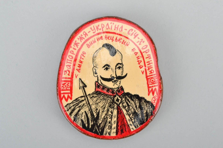 Wooden magnet Cossack photo 3