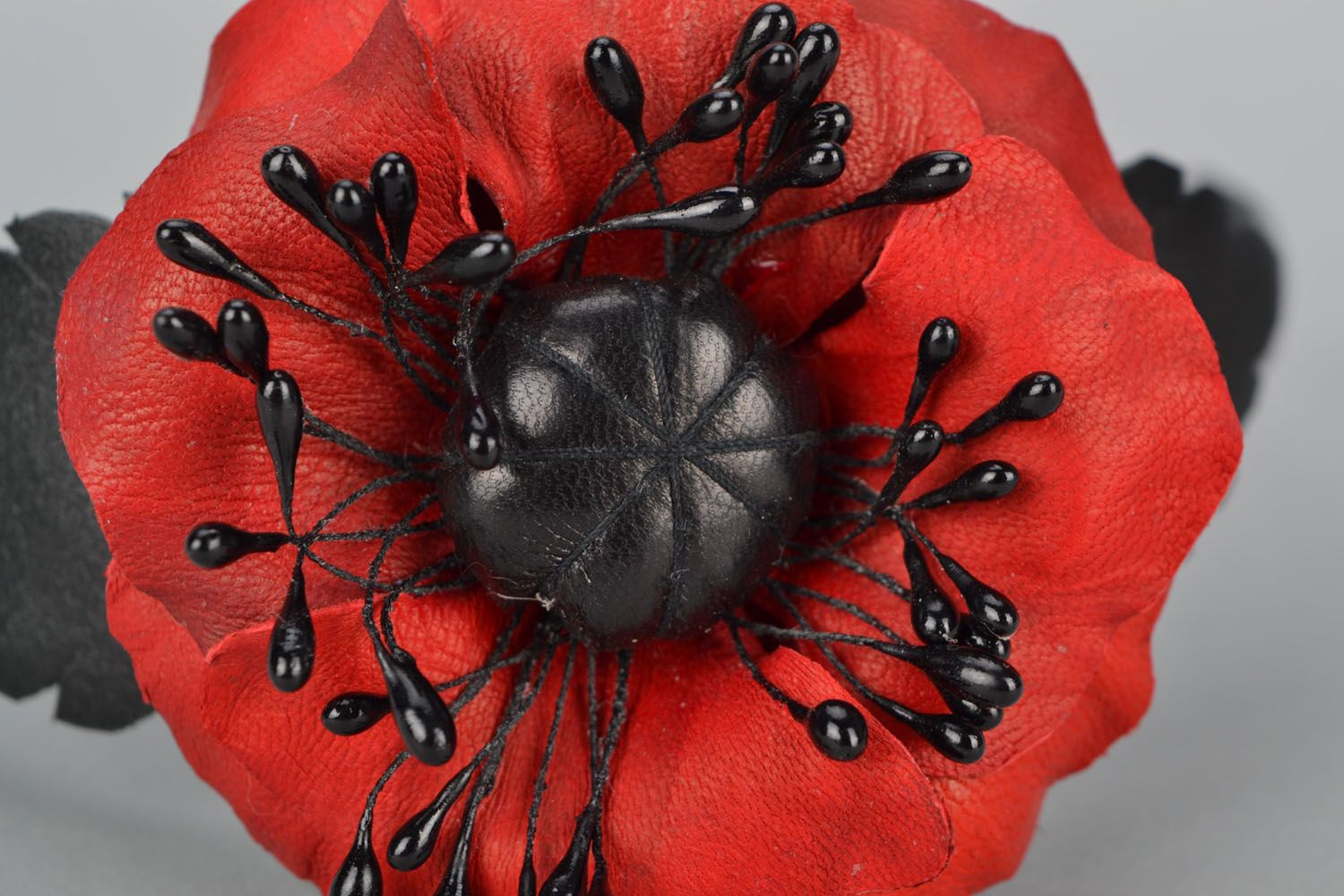 Design headband with poppies photo 4