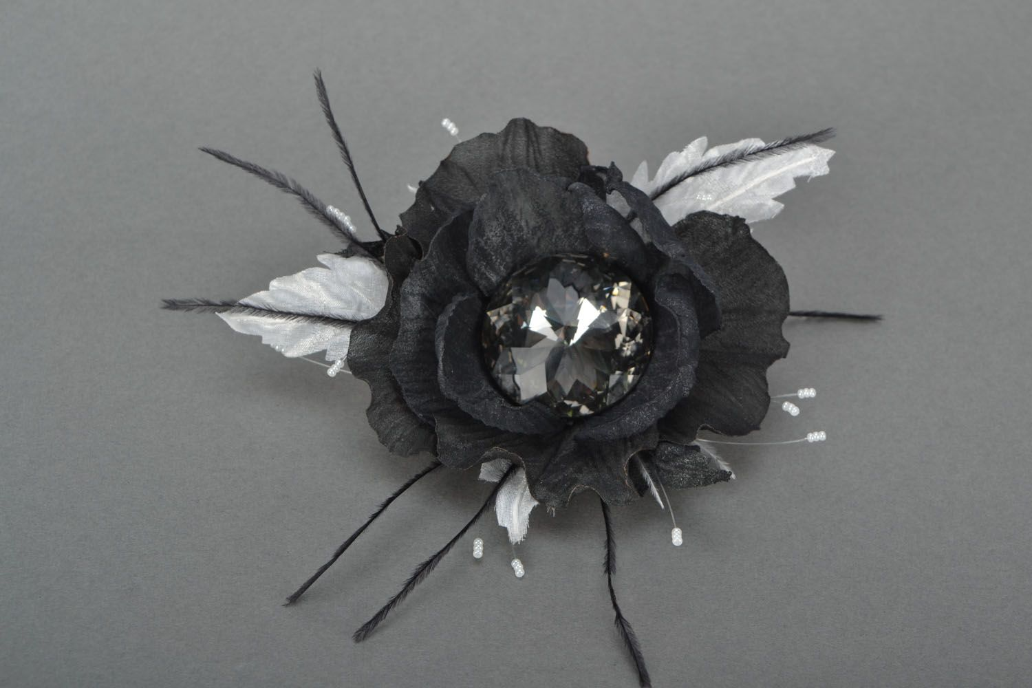 Textile hair pin-brooch Poppy photo 1