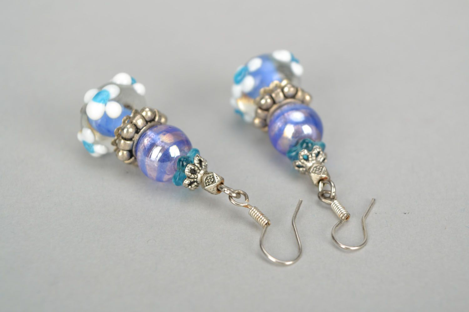 Designer glass earrings photo 4