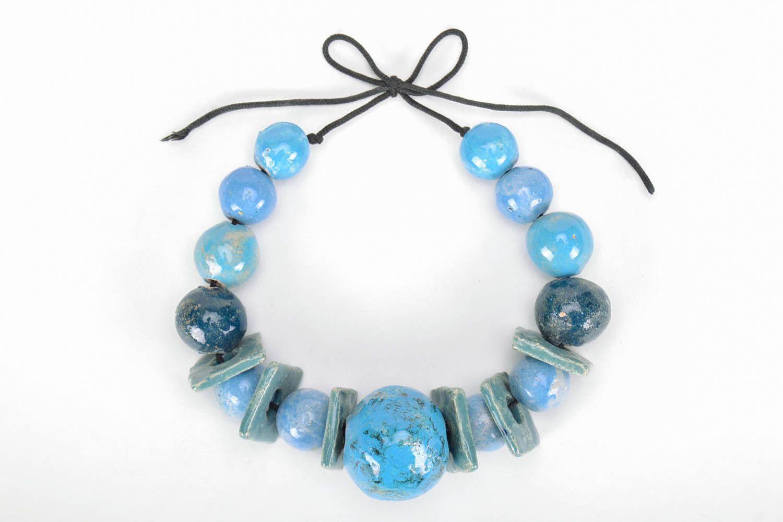 Massive ceramic bead necklace photo 5