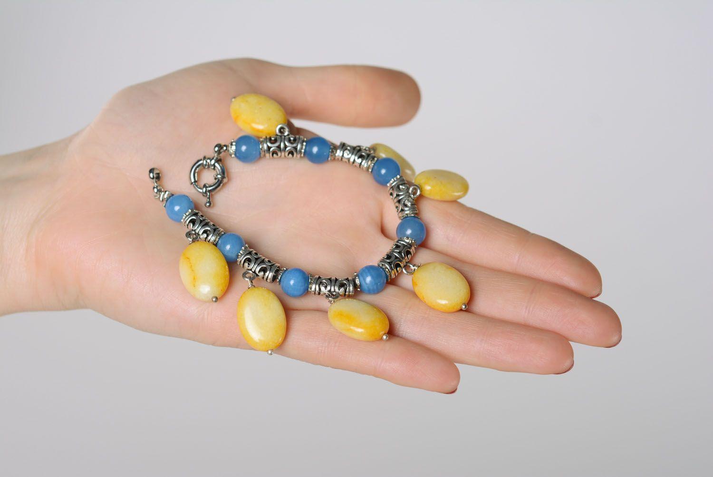 Наручный браслет из натуральных камней фото 2