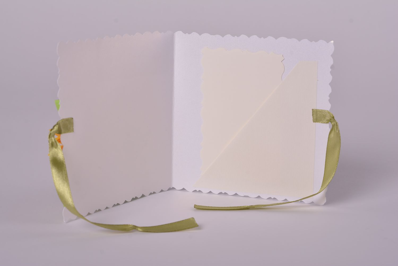 Handmade designer cardboard stylish invitation card unusual flower decor photo 5