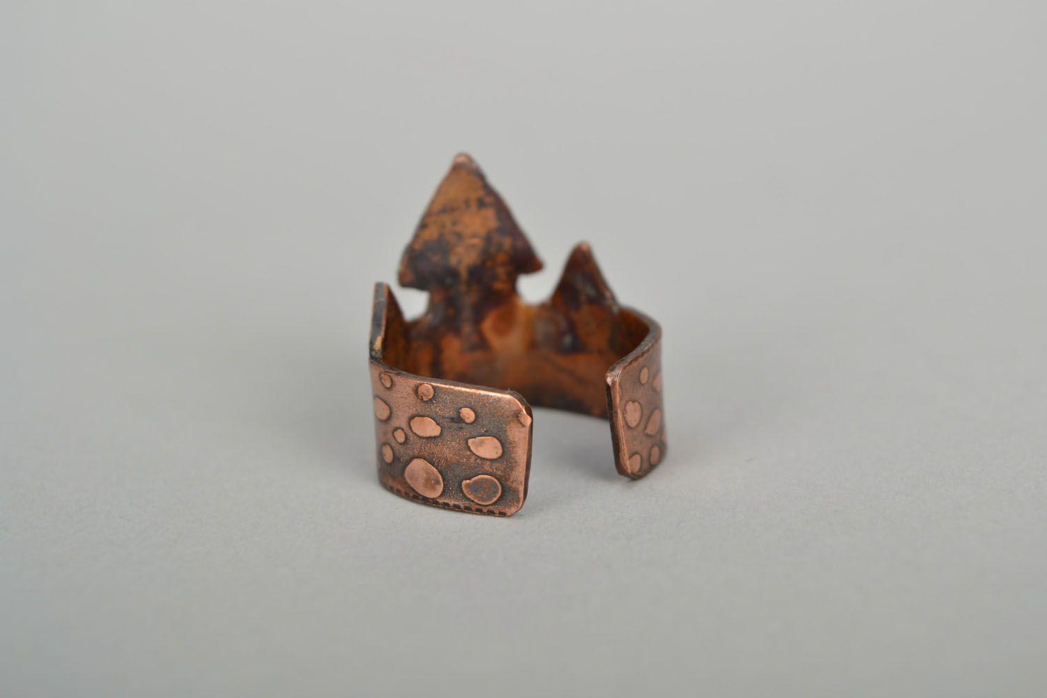 Copper ring Houses photo 5