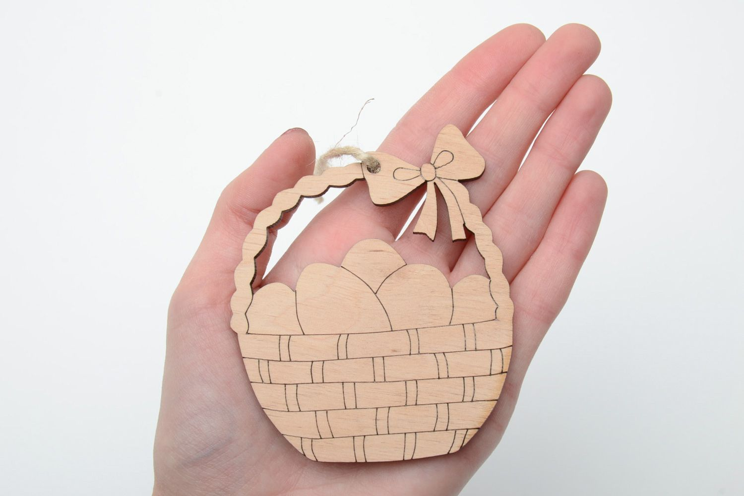 eggs for decoupage Handmade plywood blank interior pendant magnet for painting - MADEheart.com