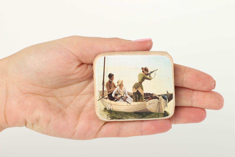 Handmade cute fridge magnet unusual wooden souvenir decorative use only photo 5