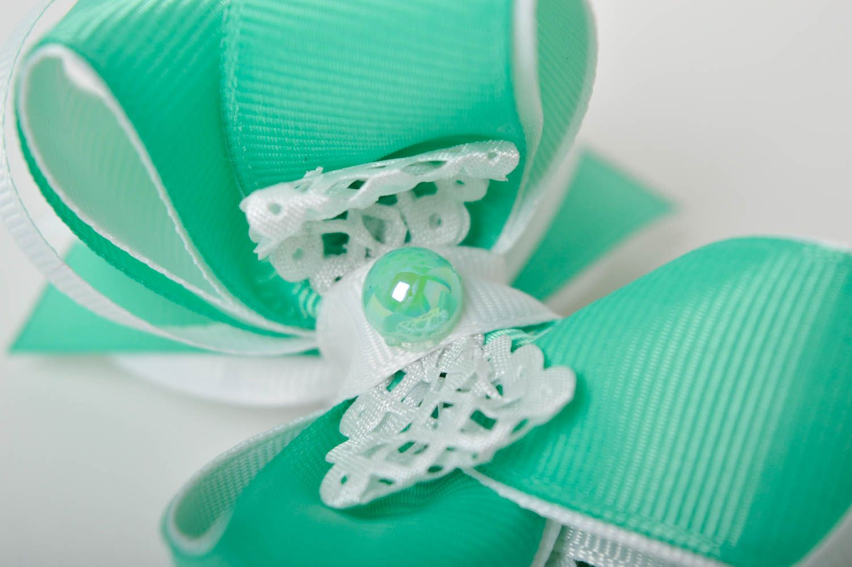 Handmade girls hair bow hair scrunchie bow hair tie designer accessories photo 5
