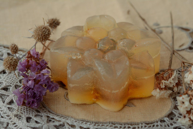 Beautiful soap with jasmine flowers photo 4