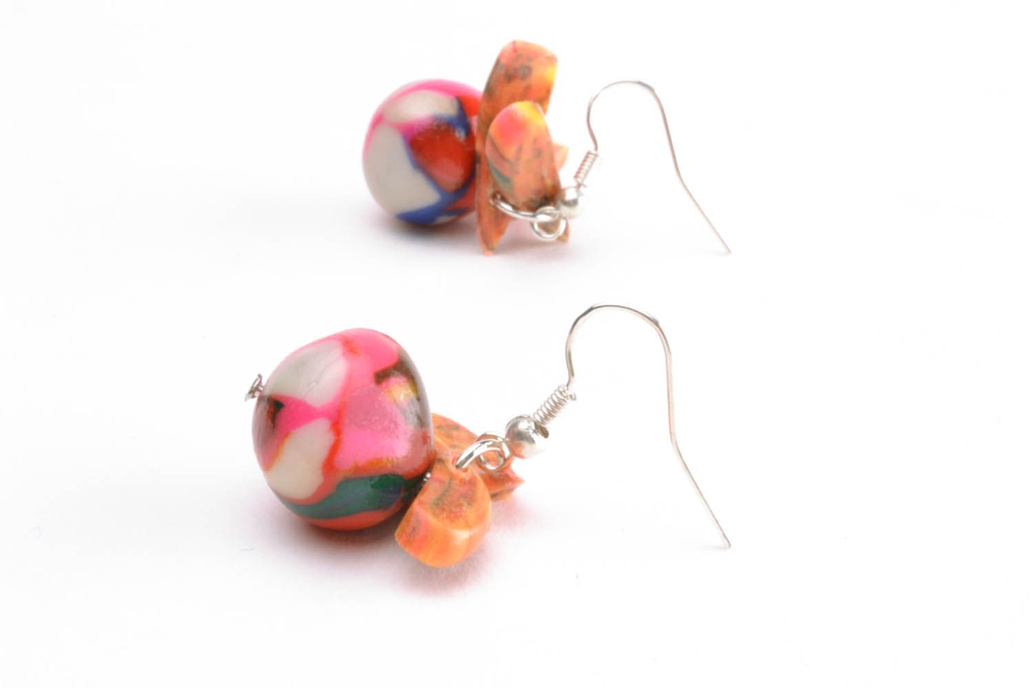 Colourful earrings with charms photo 2