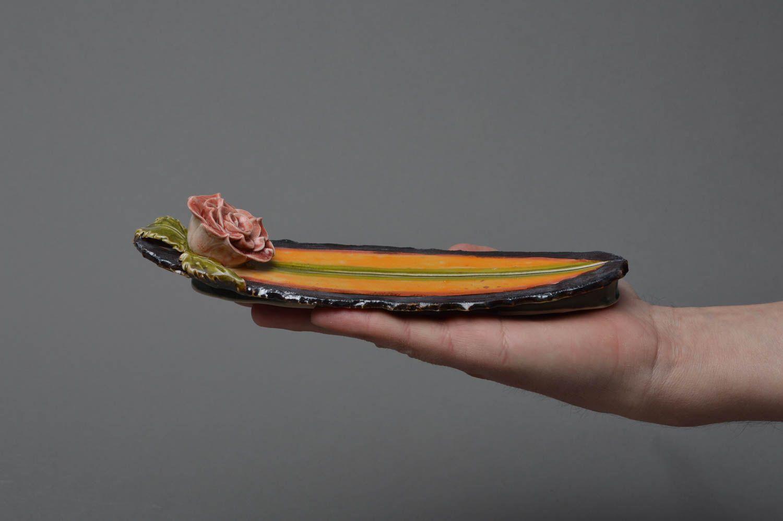 Handmade decorative glazed porcelain incense stick holder joss stick stand photo 4