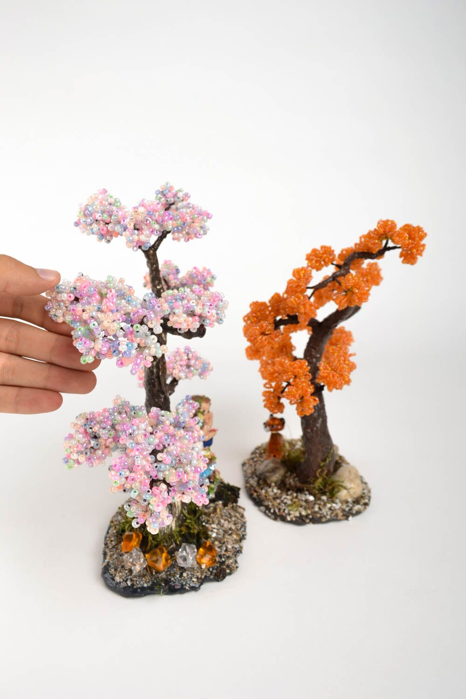 Дерево с цветами из бисера фото