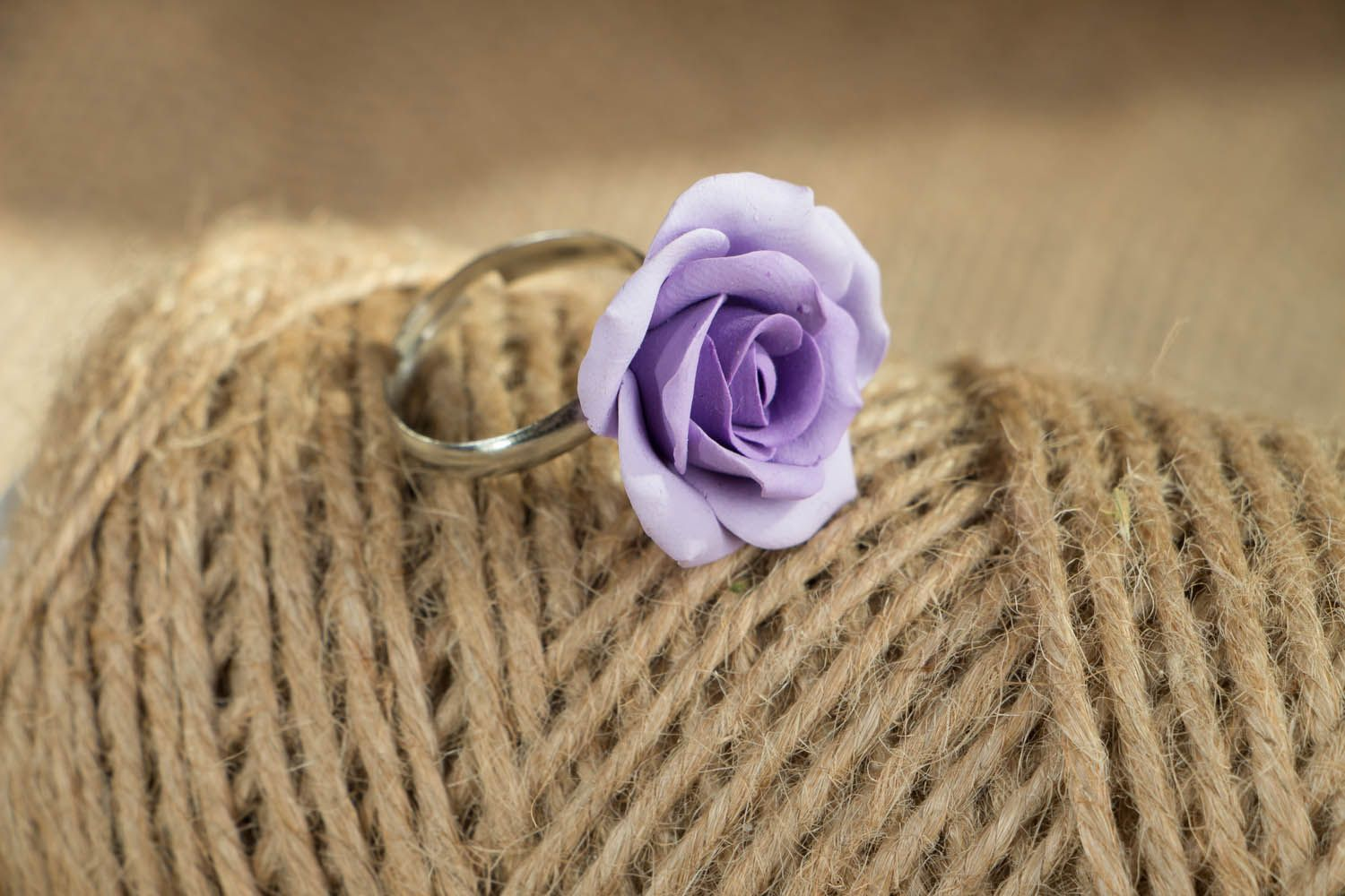 Polymer clay ring  photo 4