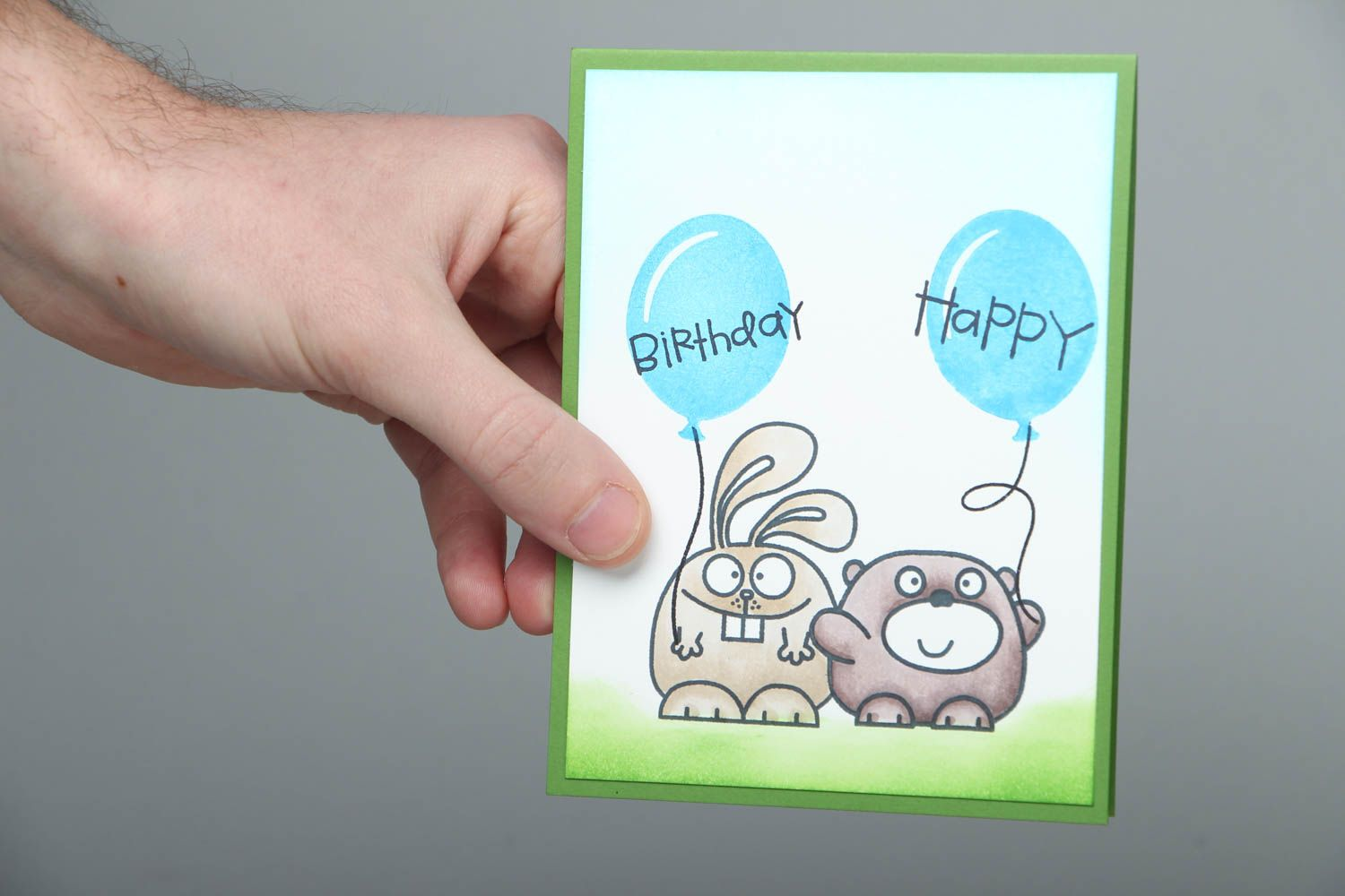 birthday Homemade greeting card Happy Birthday - MADEheart.com