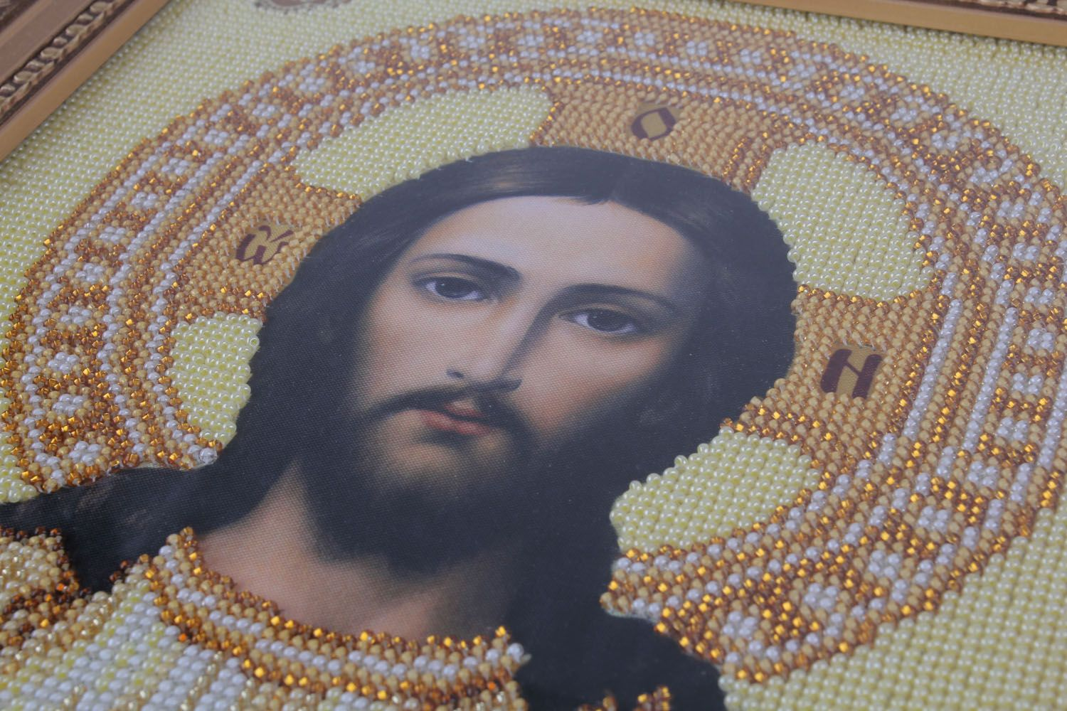 Embroidered icon of Jesus Christ photo 5