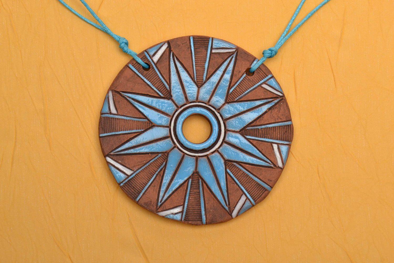 Ethno Keramik Anhänger foto 1