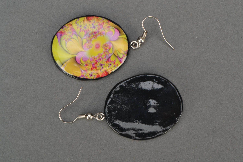 Round designer earrings  photo 4