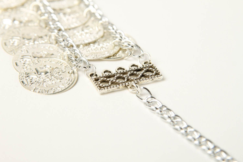 Metal bracelet handmade coin bracelet stylish jewelry fashion bracelet photo 5