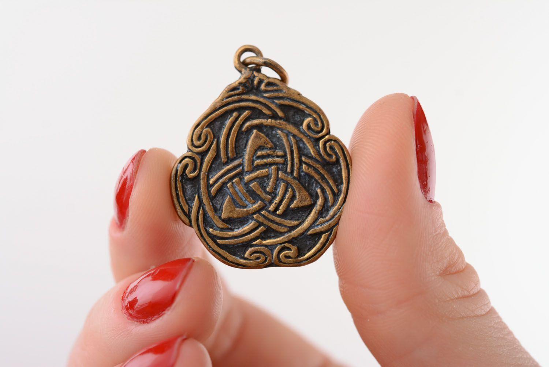 Anhänger aus Bronze Keltisches Muster foto 4