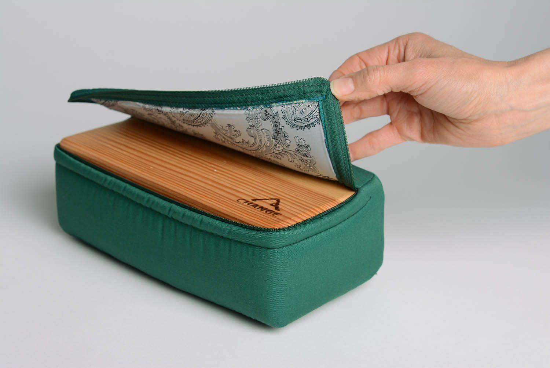 Wooden yoga block in soft case photo 1
