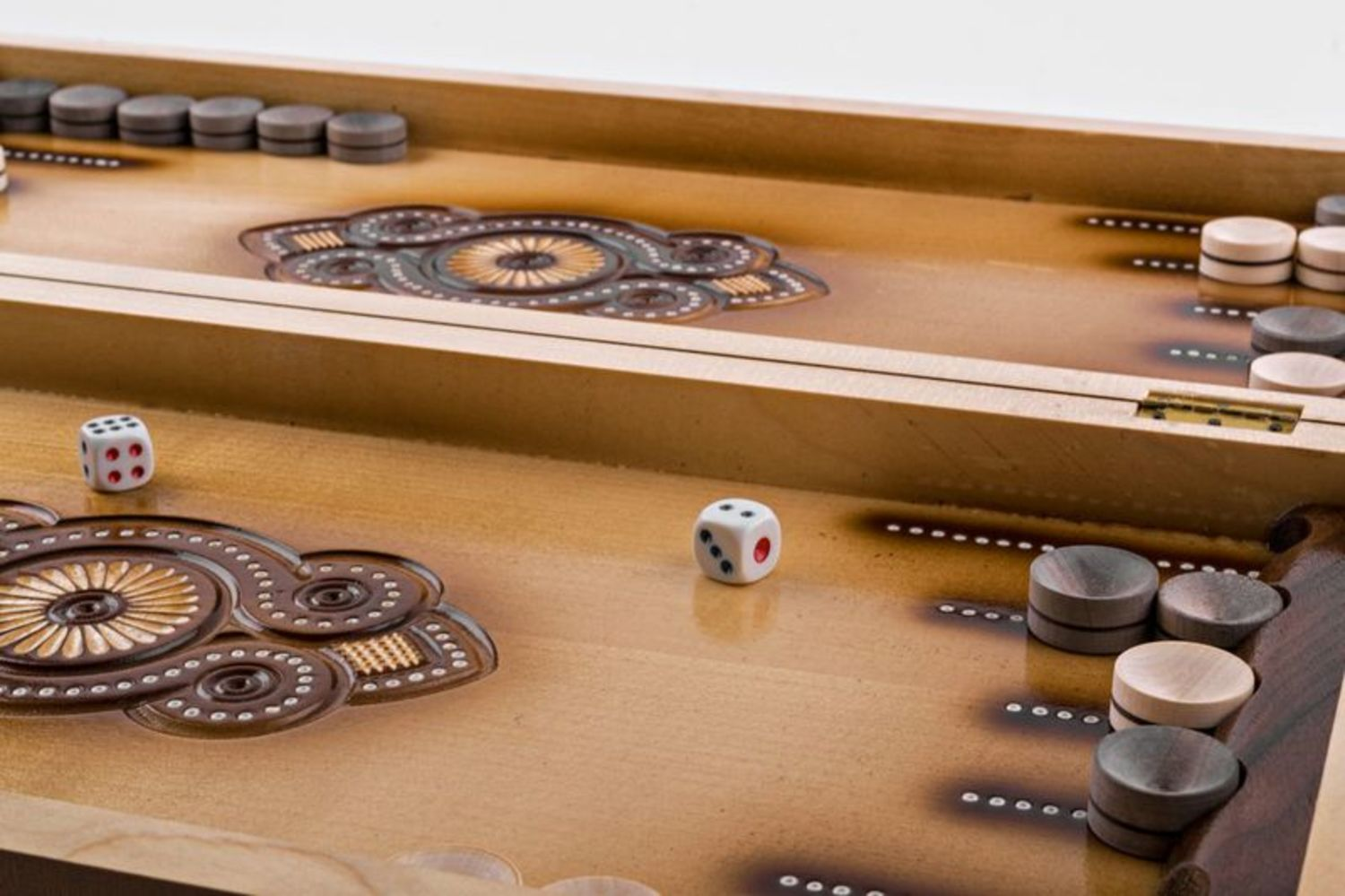 Wooden carved backgammon photo 6