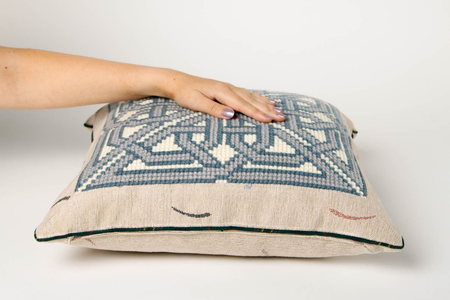 Handmade Throw Pillow Soft Cushion Design Embroidery Ideas Small Gifts