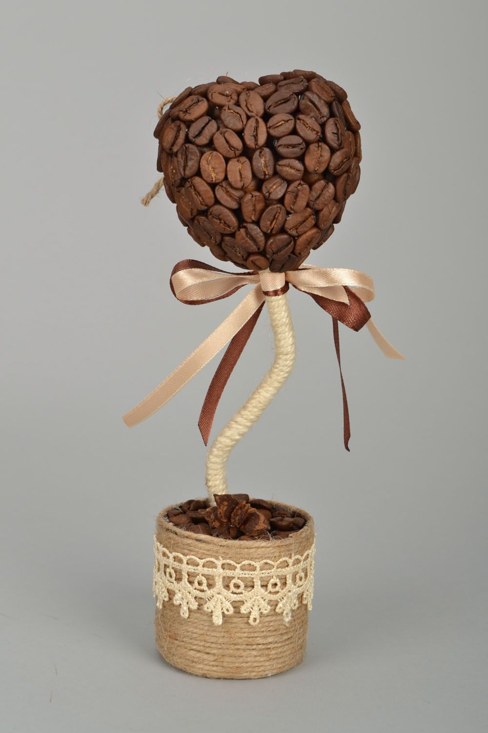 Handmade coffee topiary photo 3