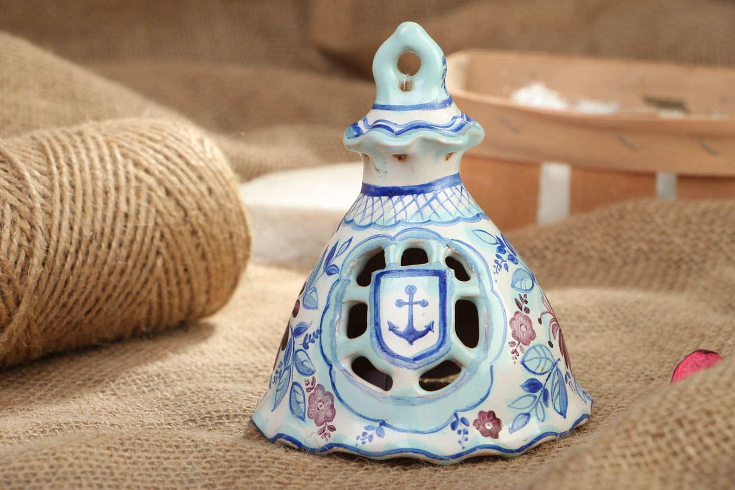 Ceramic bell with painting photo 5