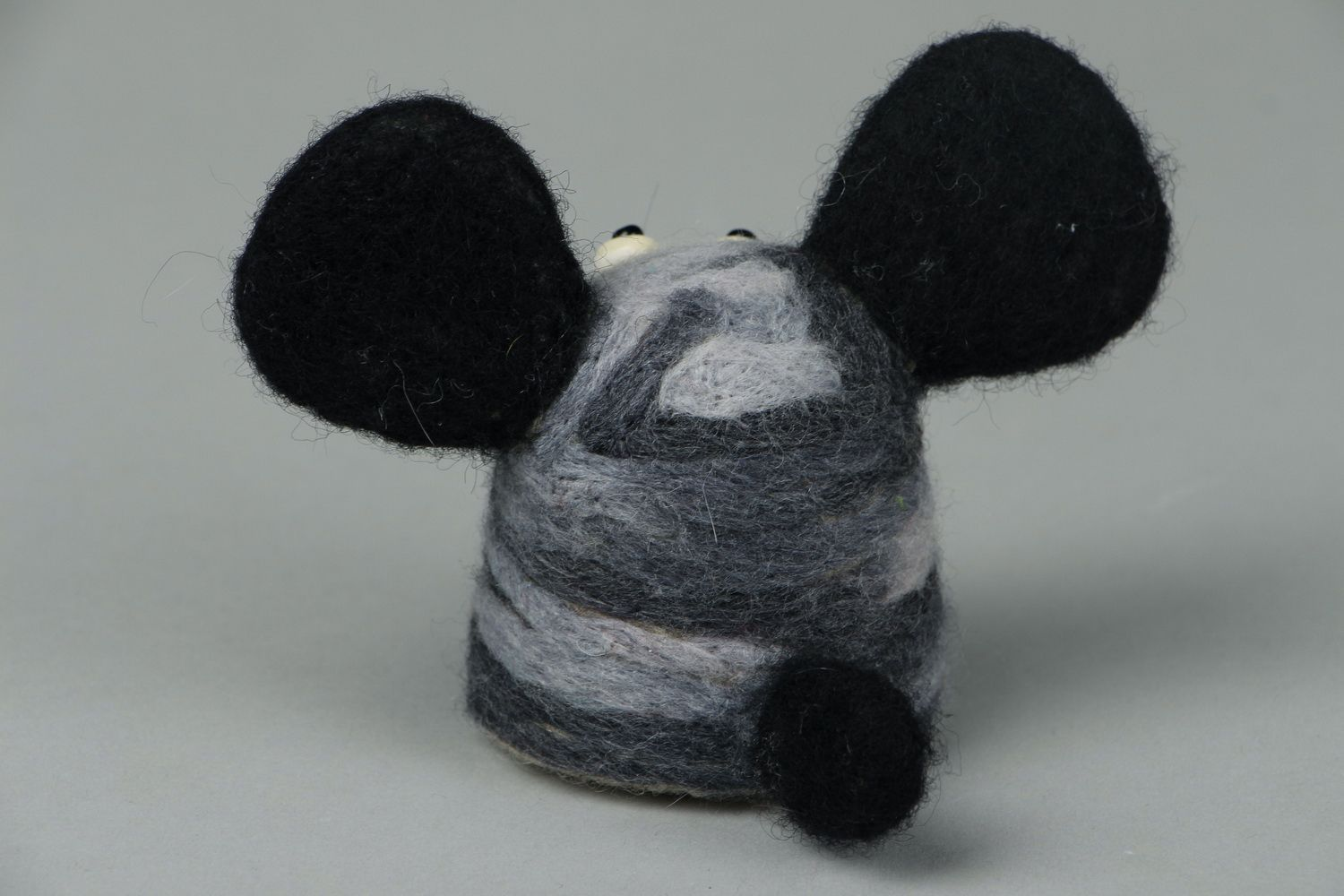 Toy made of felted wool Doggie photo 3