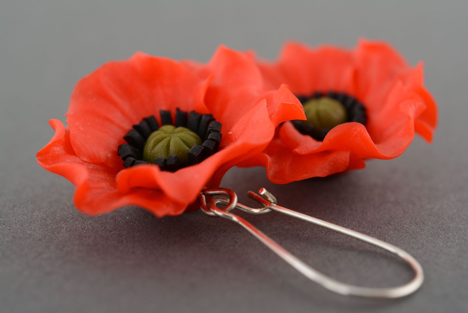Earrings made of polymer clay photo 2