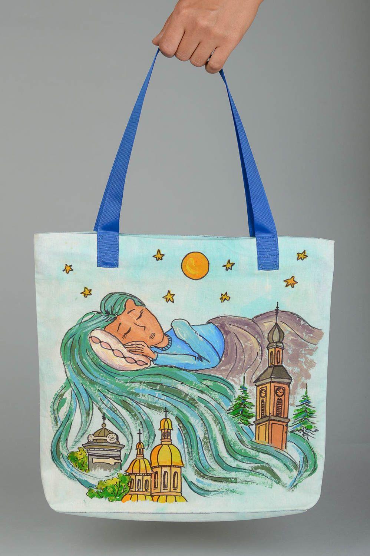Designer bag handmade shoulder bag for women shoulder bag with painting photo 5