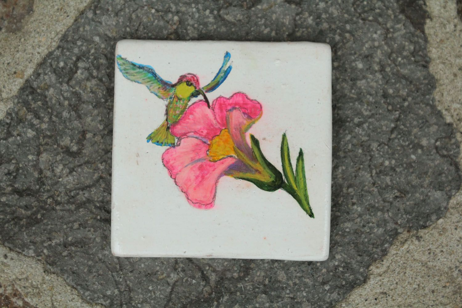 Homemade ceramic fridge magnet photo 1