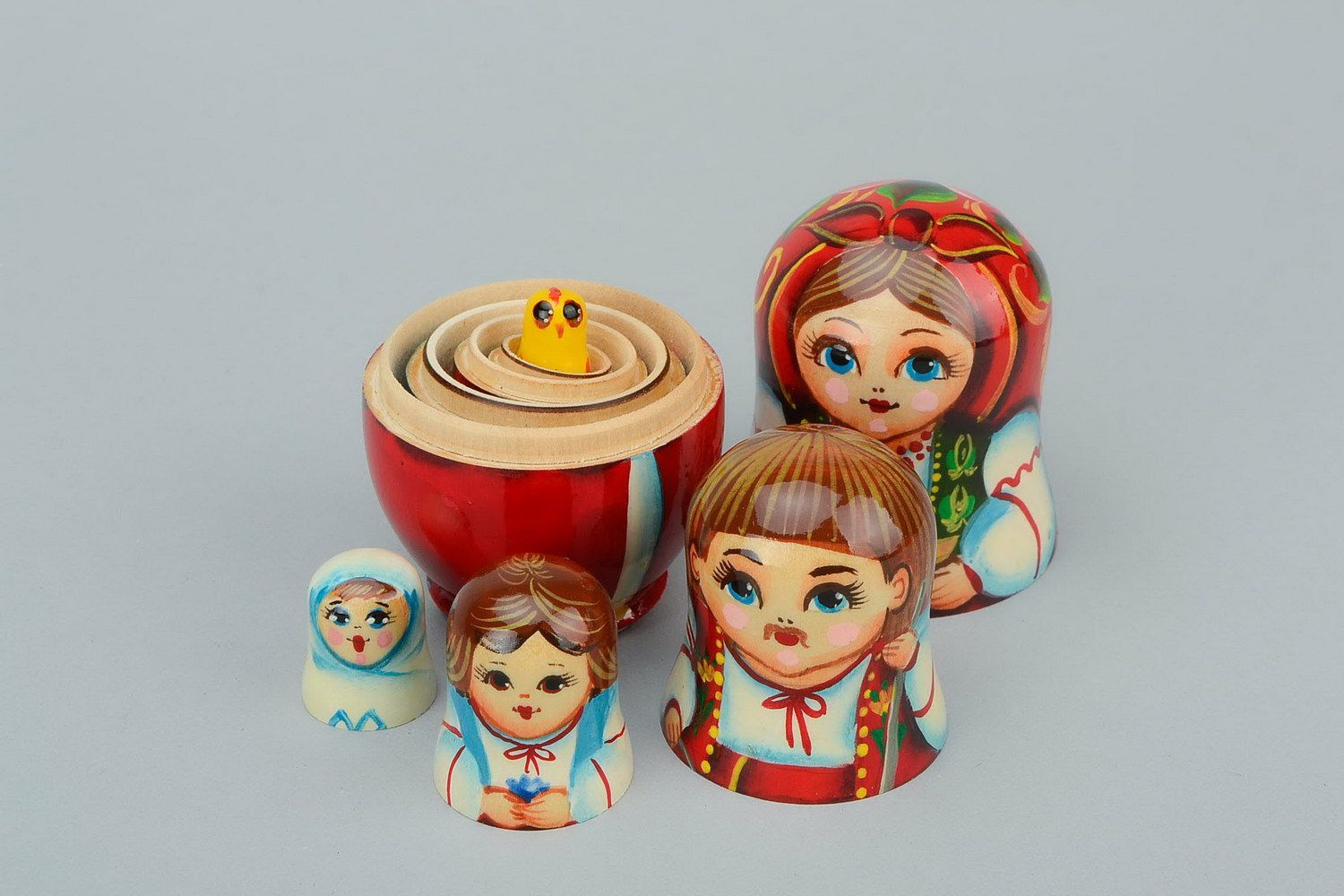 Nesting doll in embroidered shirt with dumplings photo 7
