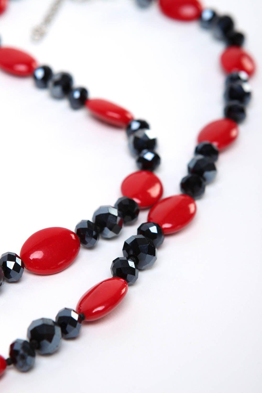 Halskette Frauen handgeschaffen Frauen Accessoire originell Perlen Schmuck foto 3