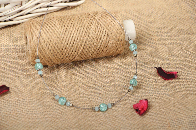 Festive beaded necklace photo 4