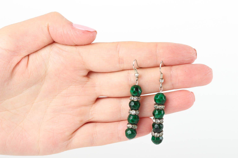 Beautiful handmade beaded earrings gemstone earrings costume jewelry designs photo 5