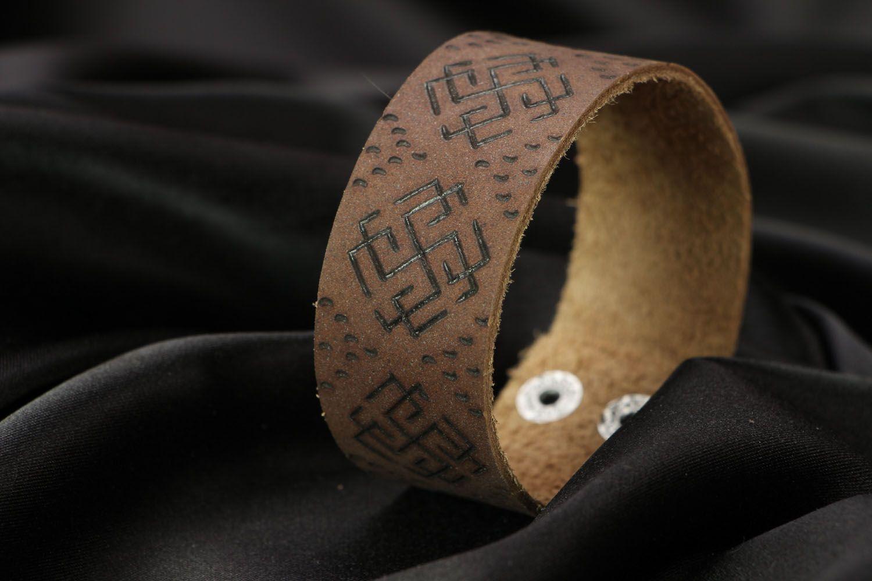 Кожаный браслет Сварожич фото 2