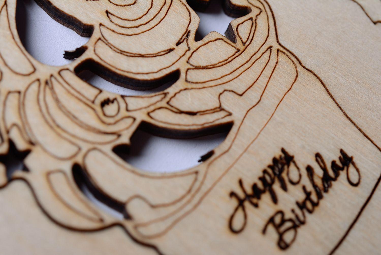 birthday Plywood greeting card Happy Birthday - MADEheart.com