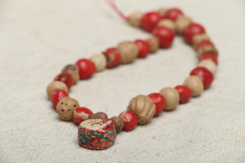 Ethnic bead necklace photo 2